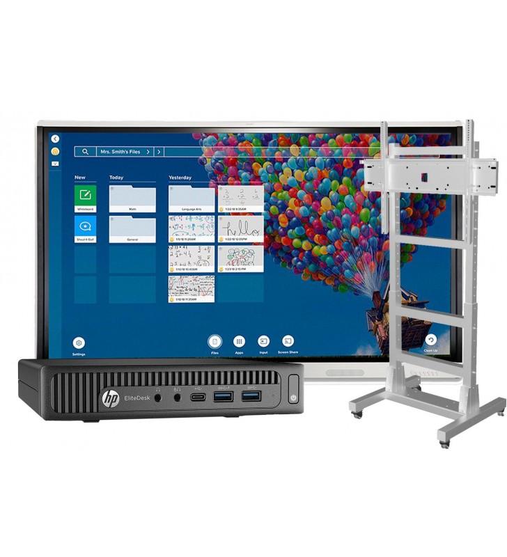 """SUPER BUNDLE SMART Board MX265-V2 + HP ELITEDESK 800 G2 Mini Business WIN 10 Educacion + SOPORTE MIF FLEX MOVIL - 75"""" BLANCO"""