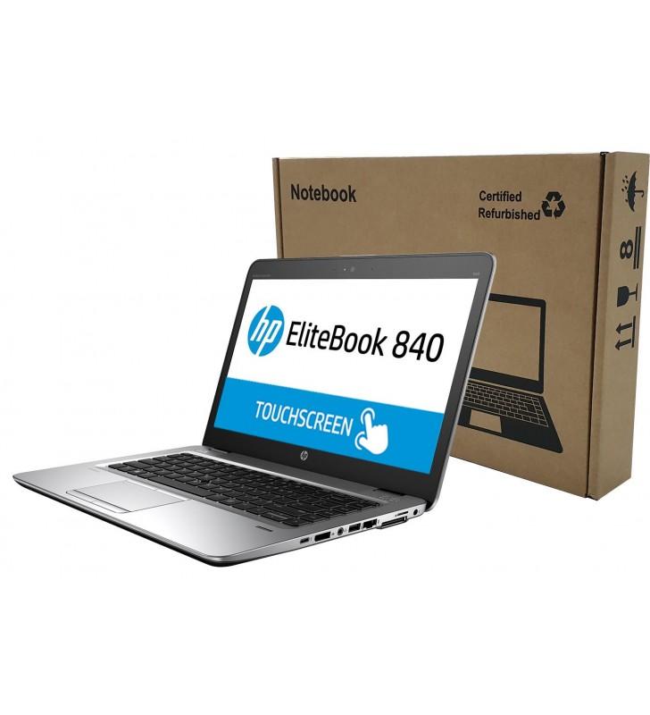 "PORTATIL HP ELITEBOOK 840 G3 I5-6300U 8GB SSD 256GB 14"" Full HD TOUCHSCREEN OCASION Front Left Box"