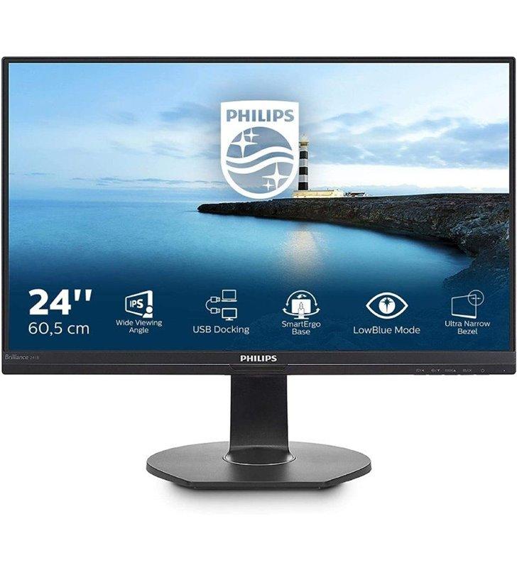 Monitor Profesional Philips 241B7QUPEB 23.8'/ Full HD/ Multimedia/ Negro