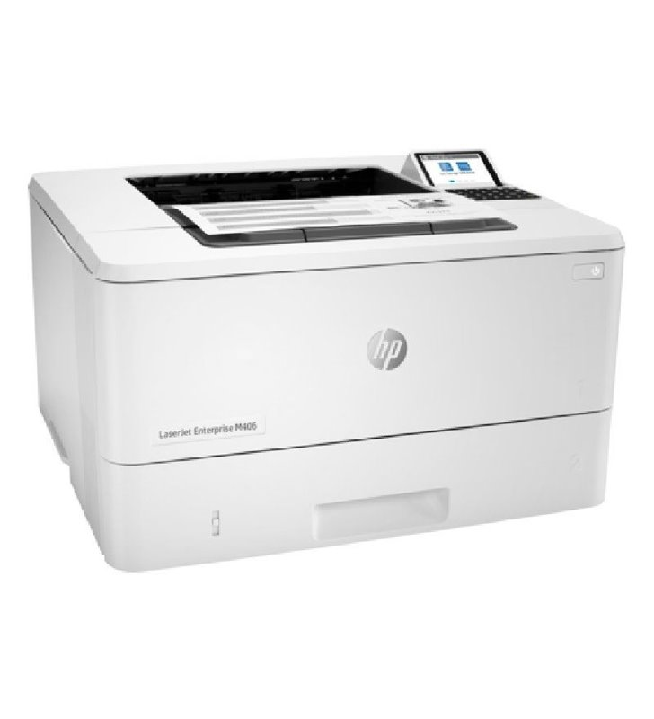 Impresora Láser Monocromo HP Láserjet Enterprise M406DN Dúplex/ Blanca