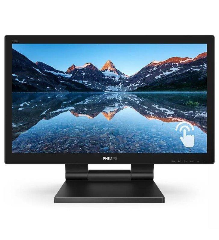 Monitor Profesional Táctil Philips 222B9T 21.5'/ Full HD/ Multimedia/ Negro