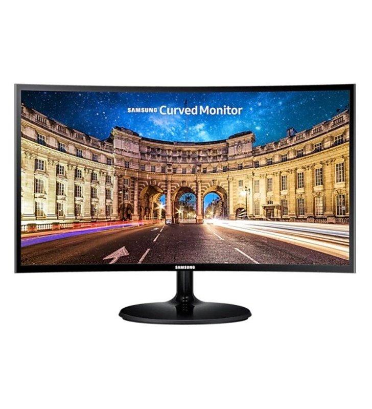 Monitor Curvo Samsung C24F390FHR 23.5'/ Full HD/ Negro