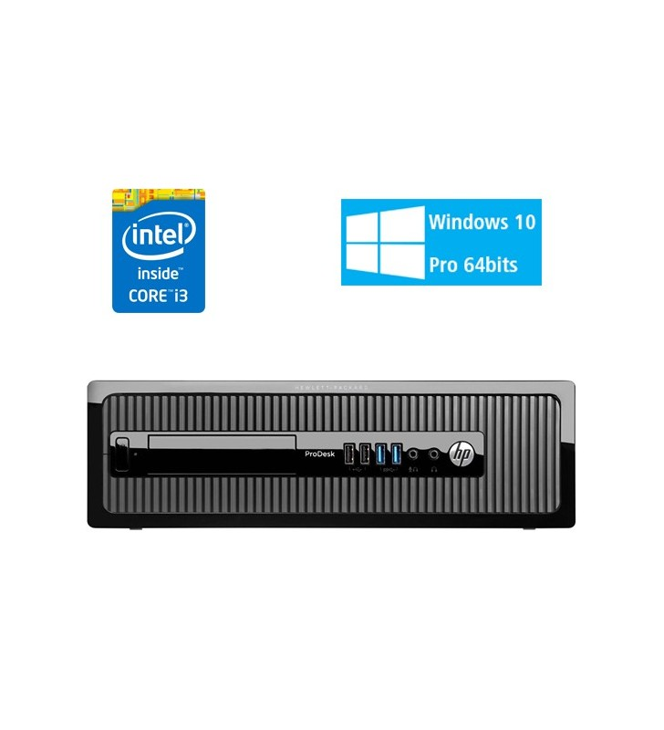 HP HP PRODESK 400 G1 I3-4130 8GB SSD 256GB DVD-RW SFF WIN10 PRO EDUCACION OCASION