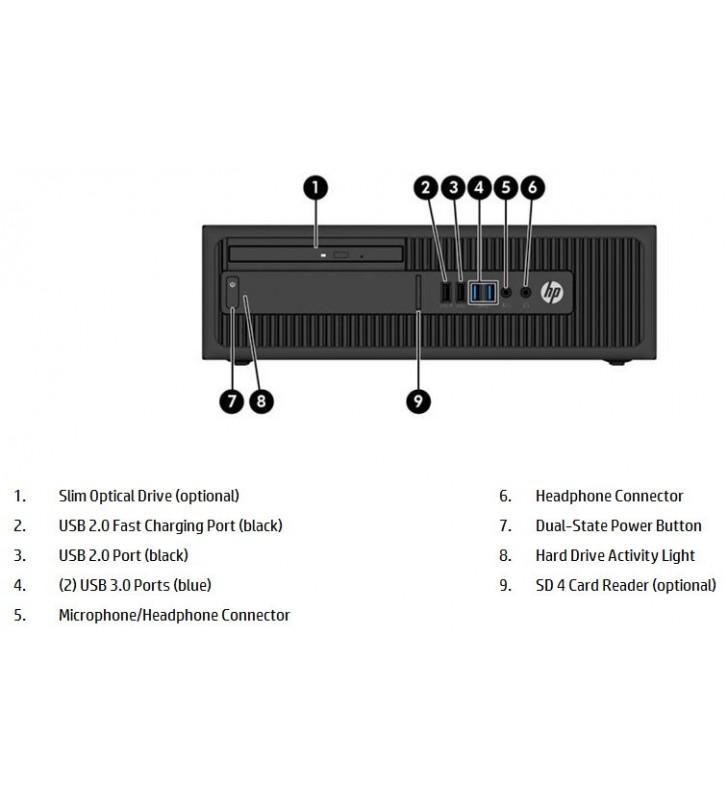 HP HP ELITEDESK 800 G2 INTEL CORE I5-6500 16GB SSD 256GB DVD SFF OCASION