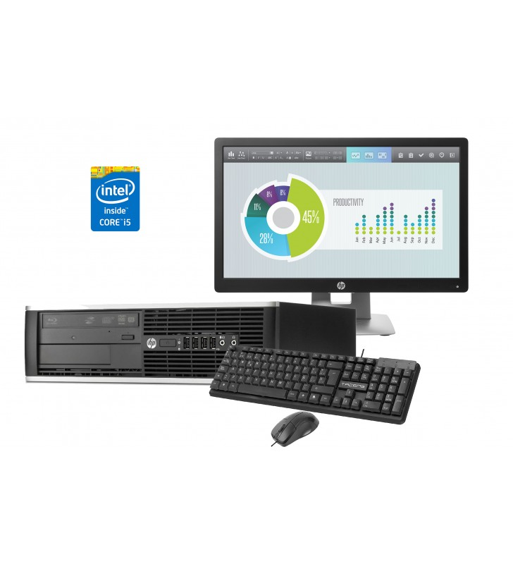 "HP PACK Ordenador HP 8300 ELITE + Pantalla HP E202 20"" + Teclado y Ratón TACENS ANIMA - OCASION"