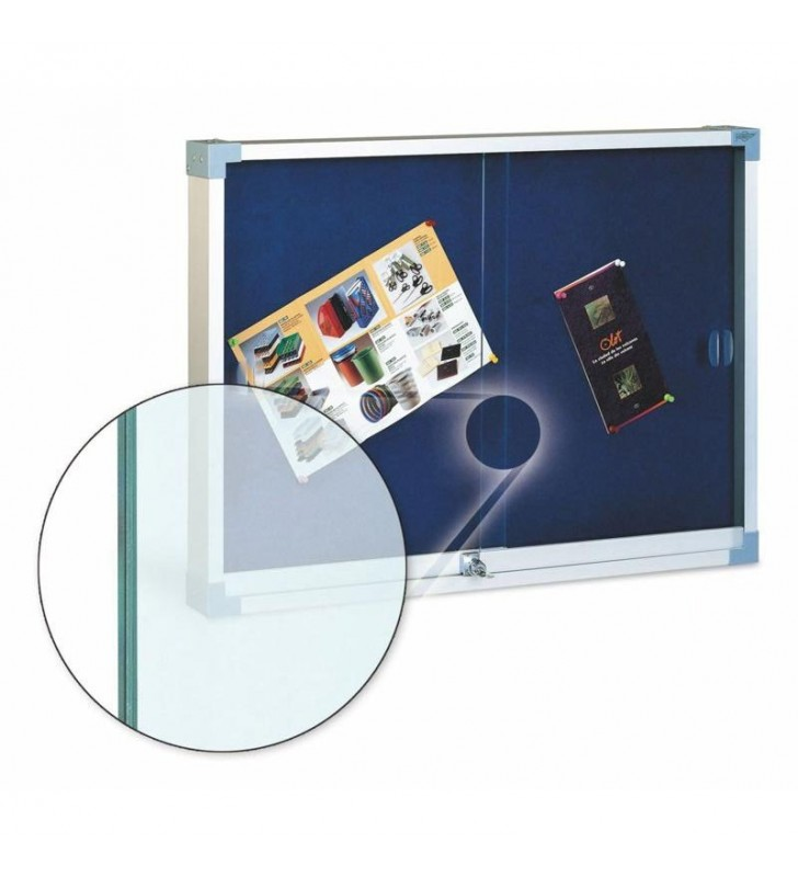 Vitrina tapizada cristal de seguridad 80x100