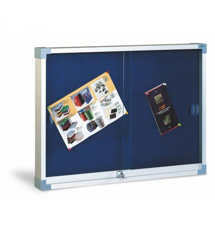 Vitrina tapizada puerta de cristal 60x80