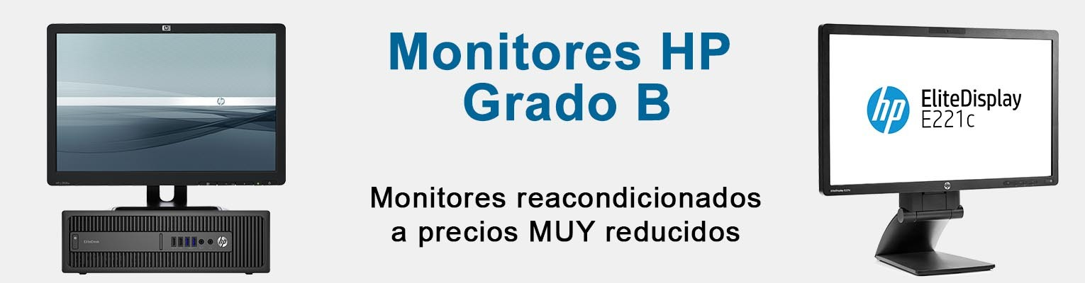 Monitores HP de segunda mano reacondicionados baratos Grado B